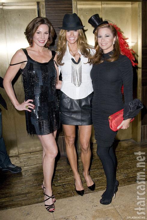 Countess LuAnn de Lesseps, Kelly Bensimon and Jill Zarin in burlesque costumes