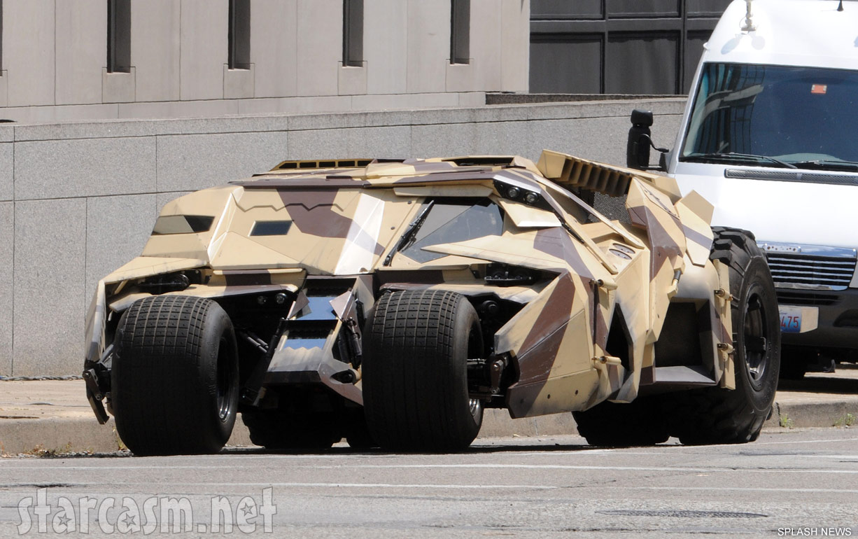 Camouflaged vehicle on the set of Batman The Dark Knight Rises