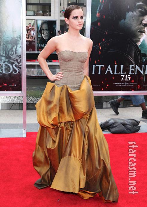 Emma Watson;s fashion fail at Hollows Part 2 premiere