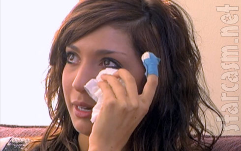 Teen Mom Farrah Abraham begins crying while talking about Derek's mother Stormie Clark