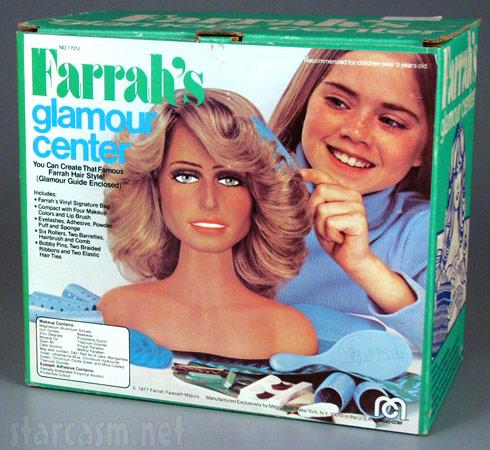 Farrah Fawcett hair feathering kit called Farrah's Glamour Center