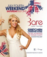 Gretchen Rossi hosting the Bare Pool Lounge 4th of July Weekend party at The Mirage in Las Vegas 2011