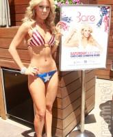 Gretchen Rossi in a sexy American flag bikini