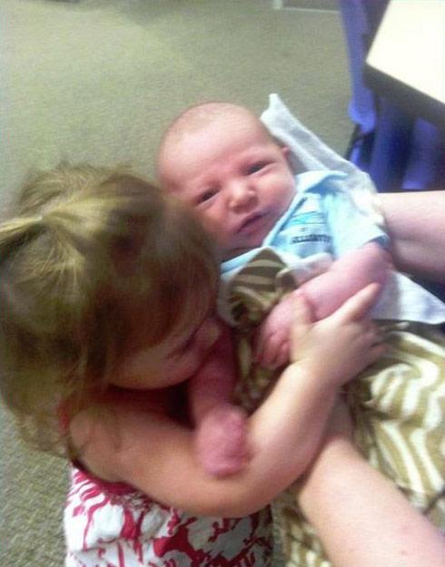 Megan Nelson's son Hunter with Chelsea Houska's doughter Aubree