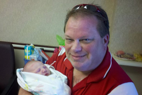 Megan Nelson's father Lance and her son Hunter