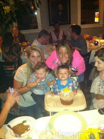 Teen Mom 2 stars Kailyn Lowry and Jenelle Evans with their sons Isaac and Jace