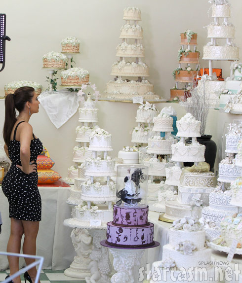 Kim Kardashian shops for wedding cakes at Hansen's Cakes in Los Angeles