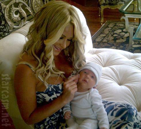 Kim Zolciak baby photo of Kroy Jagger KJ