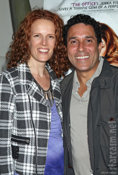 The Office actor Oscar Nunez with his wife Carla Nunez at the 'A Little Help' premiere