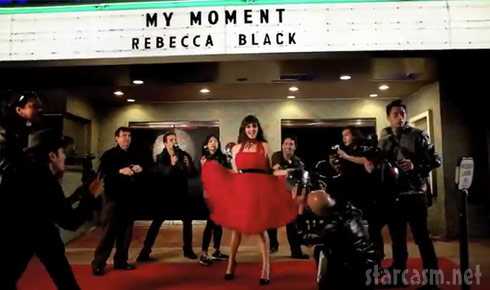 Rebecca Black photo from her video for the single My Moment