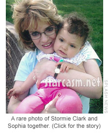 Derek Underwood's mother Stormie Clark holding Farrah Abraham's daughter Sophia