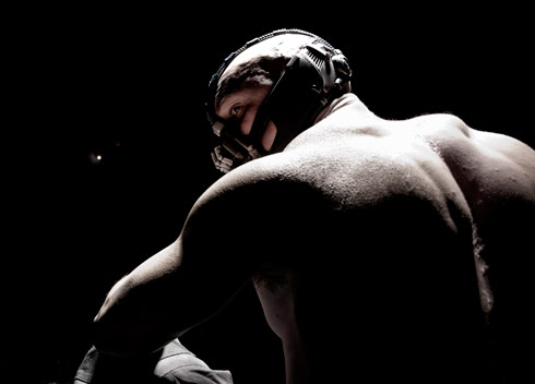 Warner Bros. official studio picture of Tom Hardy as Bane from The Dark Knight Rises