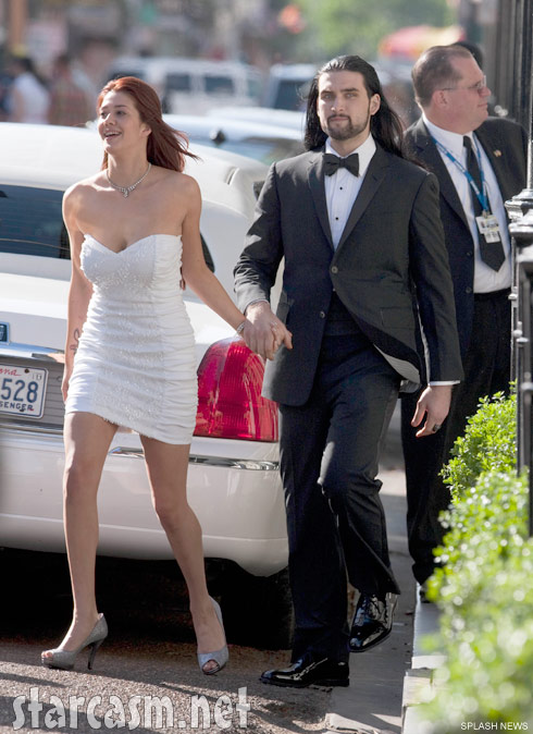 Weston Cage and his wife Nikki Williams ont heir wedding day