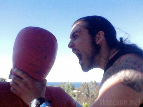 An enraged Weston Cage chokes a dummy