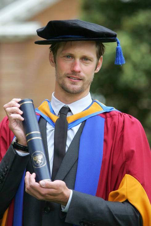 True Blood's Alexander Skarsgard receives Honorary Degree from Leeds