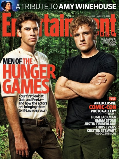 Hunger Games EW cover Liam Hemsworth Josh Hutcherson beefed up