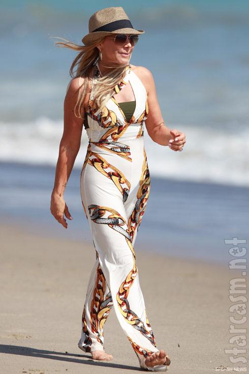 Adrienne Maloof on the beach in Malibu