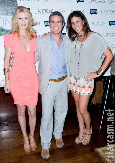 Alex McCord Andy Cohen and Cindy Barshop at Andy's Hamptons magazine cover party