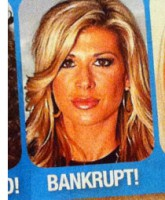 In Touch Weekly August 1, 2011 cover with Alexis Bellino's photo and the word BANKRUPT