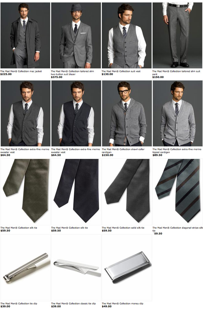 d71c968ab4 All of the mens clothing and accessories from the Banana Republic Mad Men  collection
