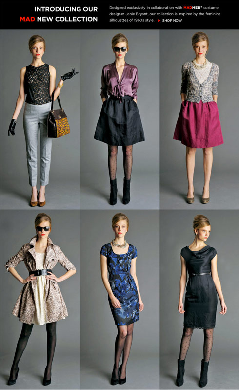 Full-length photos of the Mad Men inspired Banana Republic capsule womens collection