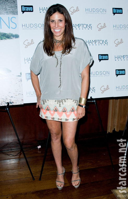 Cindy Barshop at Andy Cohen's Hamptons magazine cover party