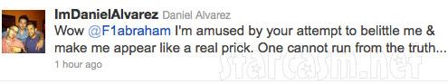 Daniel Alvarez expresses anger at ex Farrah Abraham on Twitter