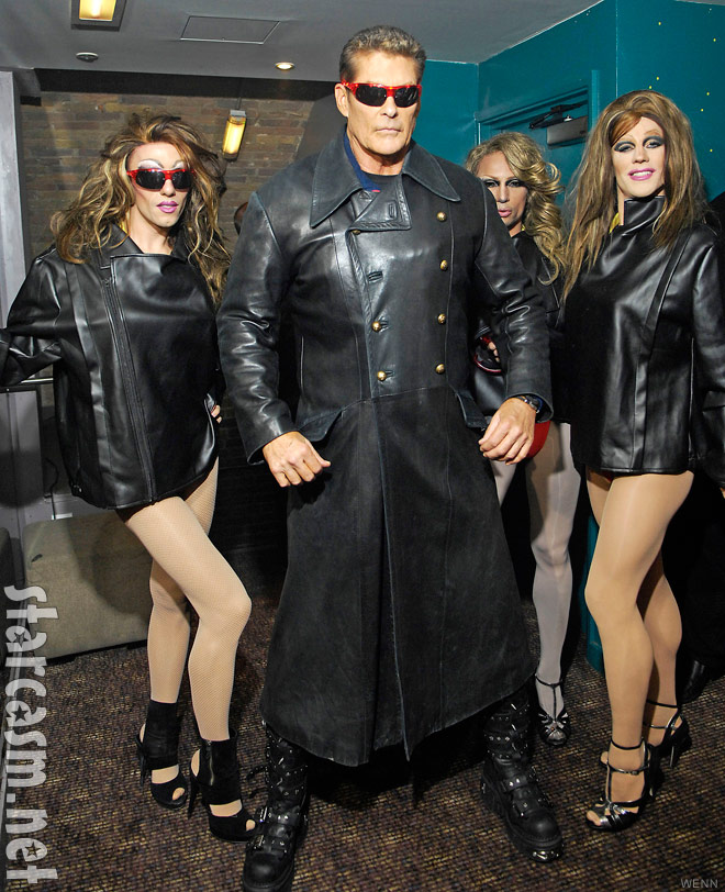 David Hasselhoff prior to his club G-A-Y performance
