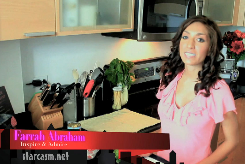 Teen Mom Farrah Abraham in Inspire and Admire cooking video