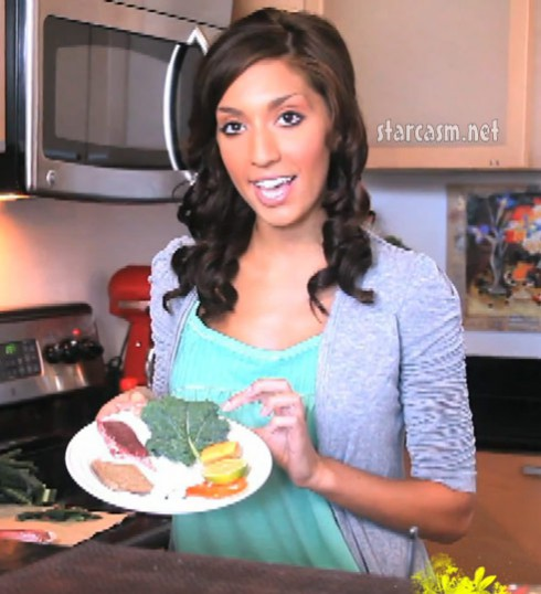 Teen Mom Farrah Abraham in cooking demo