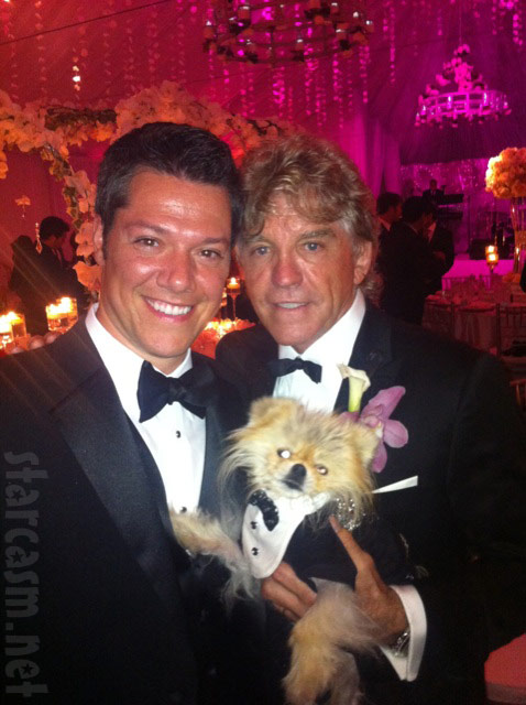 Giggy and Ken Todd in tuxedos at Pandora Vanderpump-Todd's wedding