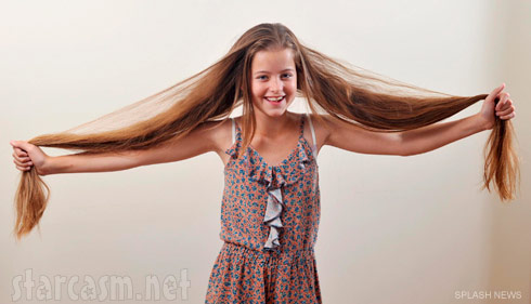 Aimee Chase is the famous Rapunzel girl with extremely long hair