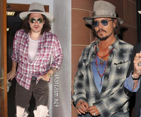 John Mayer looked like Johnny Depp
