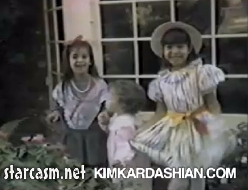 Kim Kardashian and either Khloe or Kourtney with little brother Robert Kardashian Jr. from 1985