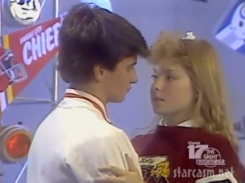 Kelly Ripa slow dancing on the teen dance show Dancin' On Air