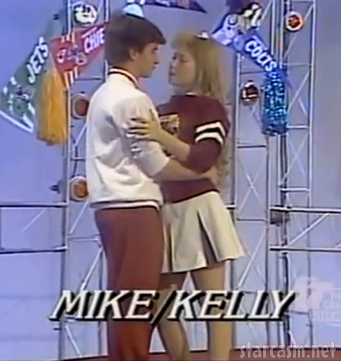 Kelly Ripa high school photo slow dancing on Dancin' On Air TV show from the 1980s