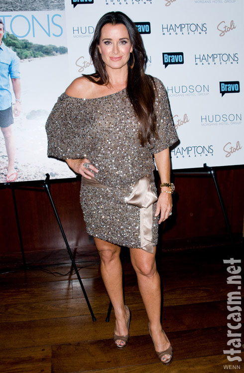 Kyle Richards at Andy Cohen's Hamptons magazine cover party