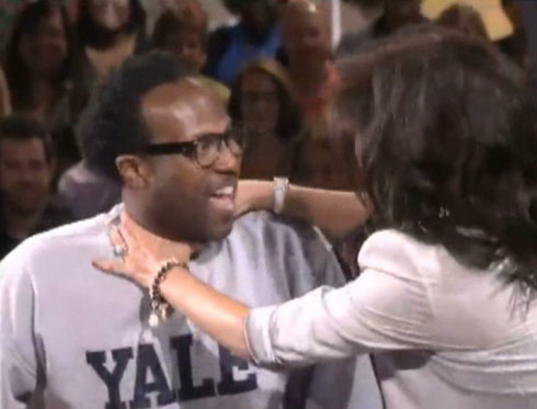 Lawon choked by Julie Chen