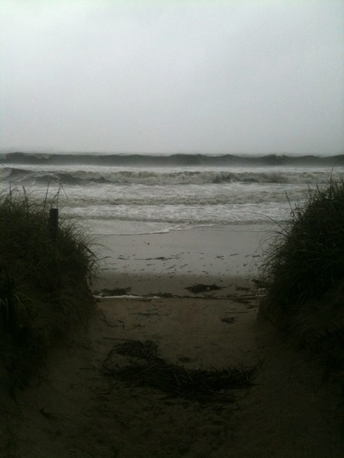 Photo of Oak Island North Carolina during hurricane Irene taken by Teen Mom Jenelle Evans