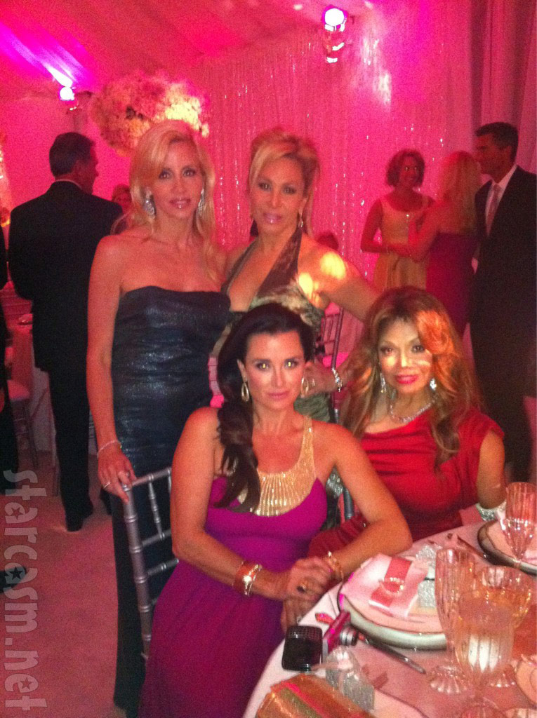 Camille Grammer, Kyle Richards, Adrienne Maloof and LaToya Jackson at Pandora Vanderpump-Todd's wedding