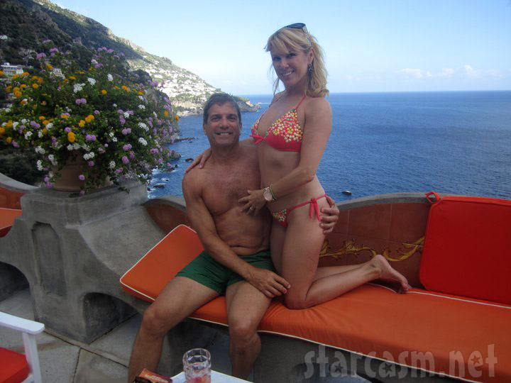 Ramona Singer and husband Mario Singer revisit San Pietro, Italy and pose for a sexy photo