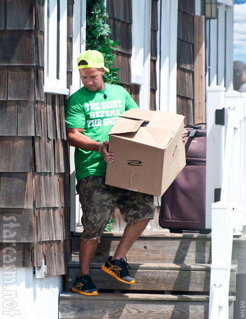 Mike The Situation Sorrentino departs the Seaside Heights beach house after Jersey Shore Season 5