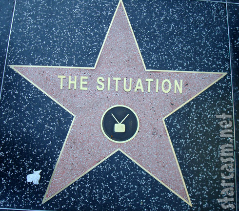 Jersey Shore's The Situation's star on The Hollywood Walk of Fame