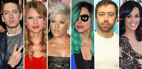 All six nominees for the 2011 Best Video With A Message MTV Video Music Award