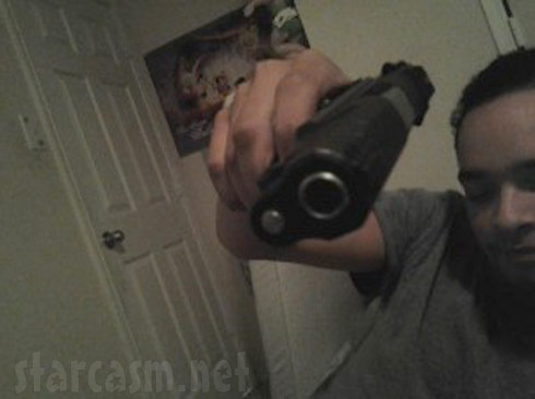 16 and Pregnant's Zak Hegab with a gun weeks prior to allegedly being involved in a burglary
