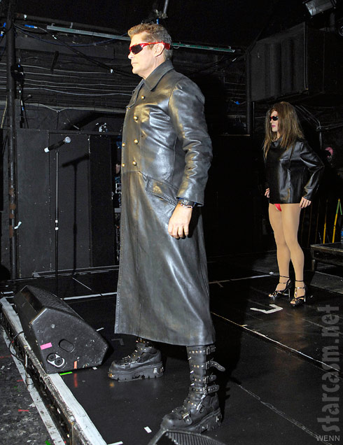 David Hasselhoff makes his entrance on stage at club G-A-Y in London