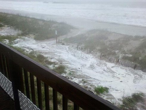 Photo of hurricane Irene taken from Oak Island North Carolina by Teen Mom Jenelle Evans