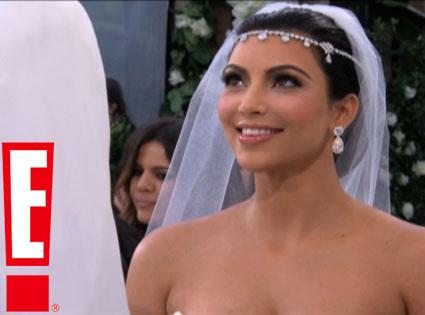 Kim Kardashian wedding photo