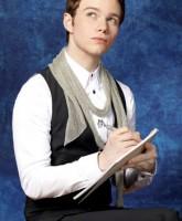 Glee Season 3 cast yearbook photo of Kurt Hummel played by Chris Colfer