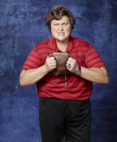 Glee Season 3 cast yearbook photo of Coach Shannon Beiste played by Dot-Marie Jones